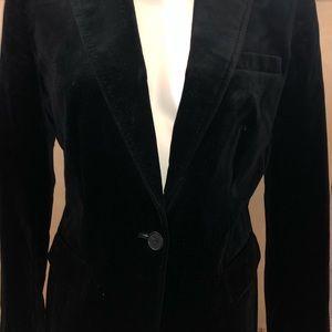 J.Crew Black velvet blazer schoolboy size 10.